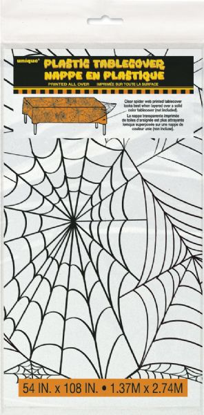 Clear Spider Web Plastic Tablecover (1)